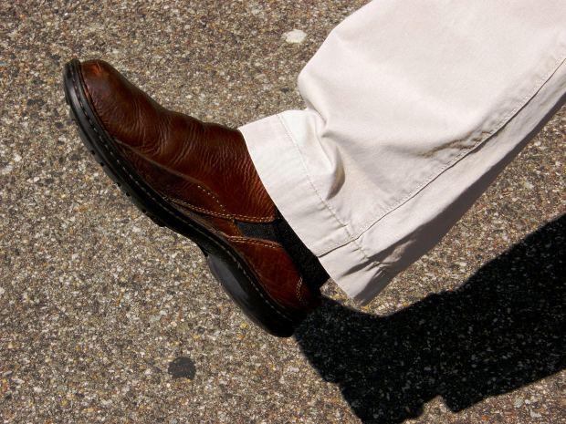 leren schoenen verven